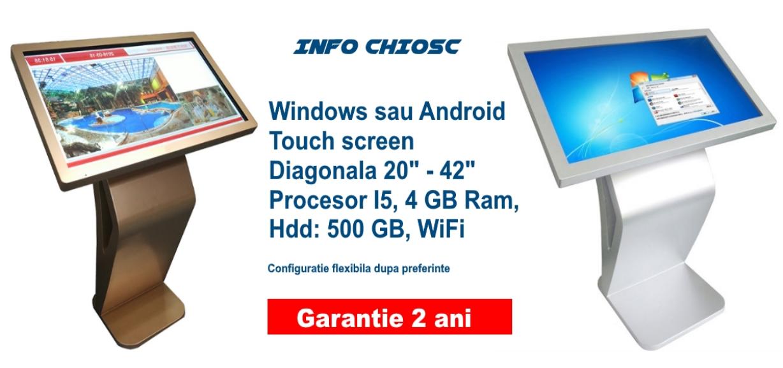 Info chiosc LCD, terminale de ultima generatie cu un disign modern si multiple avantaje