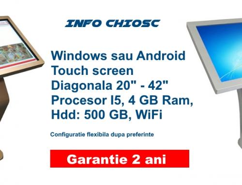 Info Chiosc LCD digital cu touch screen